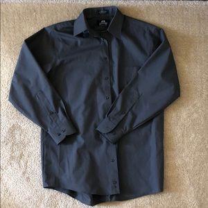 Stafford Button Down Dress Shirt 15.5 Grey